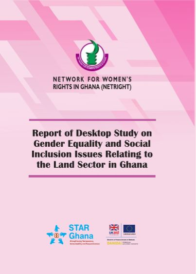 NETRIGHT Study on Gender Equality and Social Inclusion Issues Relating to the Land Sector in Ghana