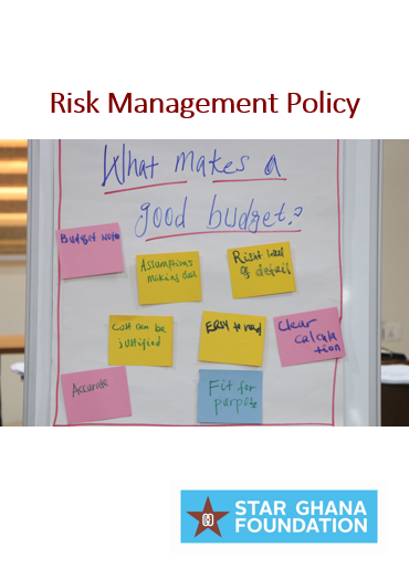 STAR-Ghana Foundation Risk Management Policy